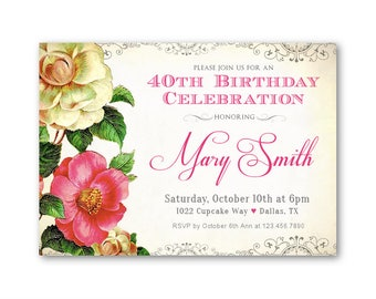 70th birthday invitations women s birthday party invites