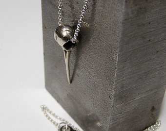 Silver Hummingbird Skull with 20 inch chain, .925 (sw)