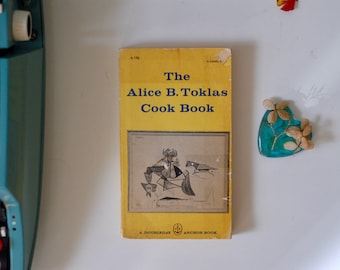 1960s The Alice B. Toklas Cook Book, Alice B. Toklas, Vintage Cook Book, Classic Cook Book, Vintage Book, Picasso's Painting on Book Cover
