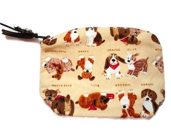 Basset Hound Coin Purse Accessory Dog Bag Dog Lover Gift Small Coin Purse Dog Zipper Bag Cotton Coin Purse Dog Coin Purse made in France