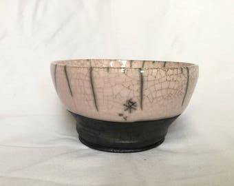 Pale pink raku Bowl