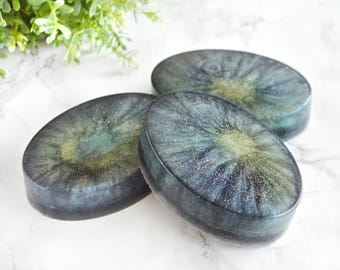 Milky Way Glycerin Soap - Galaxy Party Gift - Universe Galaxy Gift Ideas - Coconut Soap Bar - New Home Housewarming Gift - Charcoal Soap