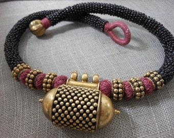 Stunning Choker Ethnic Necklace Beads