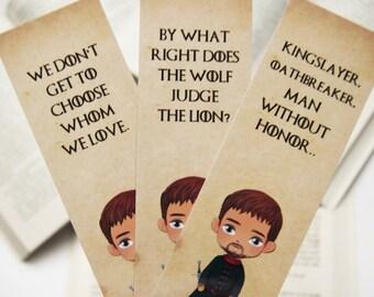Jaime Lannister paper bookmark | Kingslayer | Game of Thrones
