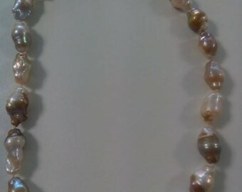 natural, Baroque pearl, necklace
