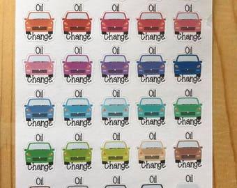 Oil change - Car Care Sheet of Planner Stickers - Erin Condren, Happy Planner, Plum Paper, Recollections, Kikki K, Gifts for Her 090