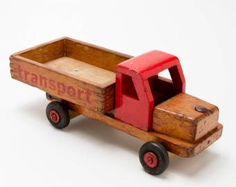 "American wooden toy truck ""transport"" vintage"