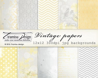 Scrapbook Papers and Digital Paper Pack 23