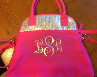 "Large (5""-6"") Curly Script Iron-On (Heat Transfer) Vinyl Three -Initial Monogram (4.75"" - 6.0"")"