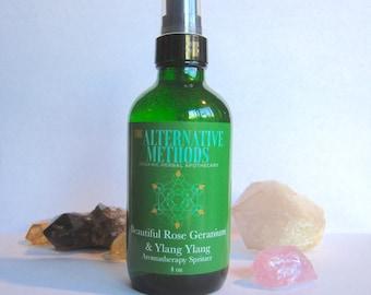 Beautiful Ylang Ylang & Rose Geranium Spritzer, Air Freshener, Aromatherapy