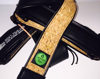 Vegan, inner tube, guitar strap, for him, for her, music, vegan guitar strap, cork, guitarists, musiclovers, guitar lovers, guitar,