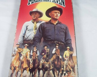 The Magnificent Seven Yul Brynner VHS Color 1960