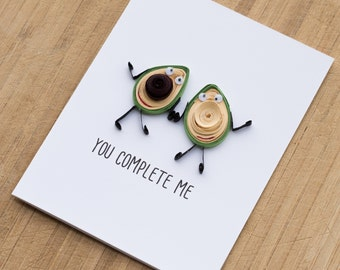 Funny Anniversary Card -Card for Boyfriend -Card for Husband -I love you card -Funny   Card -Avocado couples Card -Card for Him, Her