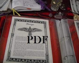 MORRIGAN PDF -- Book of Shadows -- BOS page