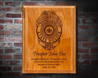 Police Appreciation Plaque