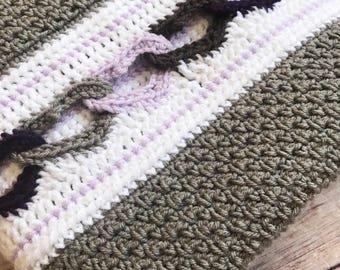 Chainlink Heart Baby Crochet Blanket, Heart Crochet Blanket, Heart Blanket, Baby Heart Blanket, Crochet Baby Blanket, Crochet Heart Afghan
