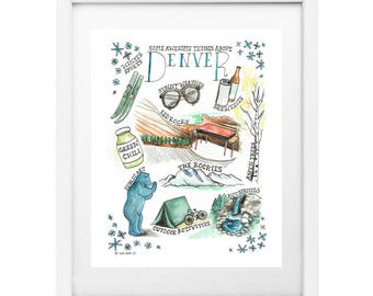 "Some Awesome Things About Denver 8x10"" Print"