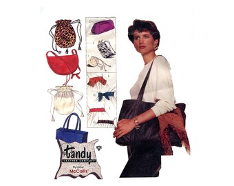 Vintage Leather Sewing Pattern Bags and Belts Drawstring Purses Shoulder Bag Vintage Pattern McCalls 3362 Tandy Leather Suede Faux Synthetic