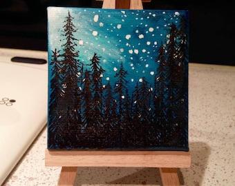 Custom Mini Astronomy-Themed Painting