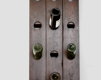 Wall mounted wine rack, Riddling rack, Mothers day gift.