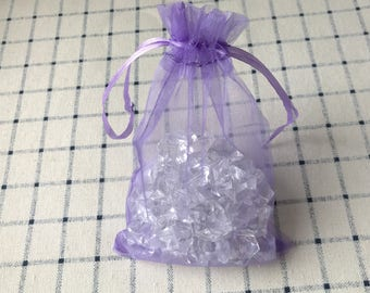 Lilac Organza Pouch Bags with Drawstring - Wedding Party Favour Bag - Baby Shower Christmas Gift Bag - Fragrance Sachet