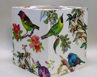 Great Made To Order, Handmade Decoupage Wood Tissue Box, Birds, Home Decor
