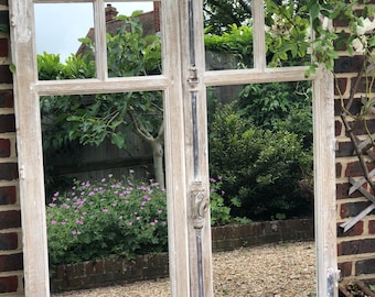 Vintage french window mirrors