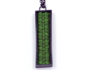 Green rectangle pendant