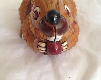 Vintage Ceramic Rabbit, Artesania Rinconada, Made in Uruguay, 1980's Ceramic Bunny, Earthenware Rabbit, Mother's Day Gift