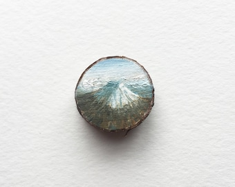 Mount Fuji, Original Miniature Painting
