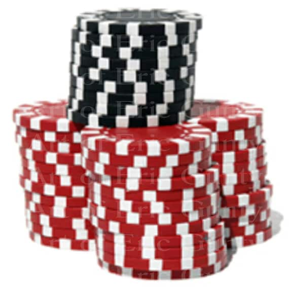 Casino Poker Chips Las Vegas Birthday - Edible Cake and Cupcake Topper For Birthdays and Parties! - D24033