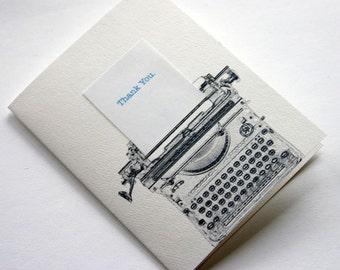 Typewriter Thanks 6 Pack