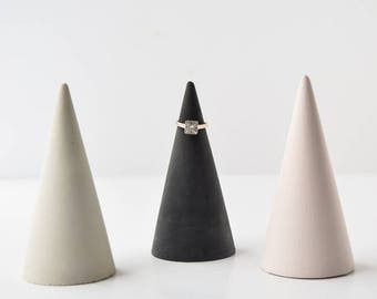 Concrete Jewelry Cone - Ring Holder - Jewelry Holder - Watch Holder - Modern Decor