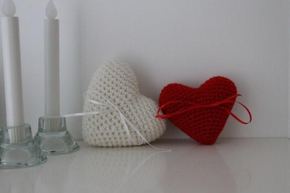 Herz Ring Träger Kissen häkeln