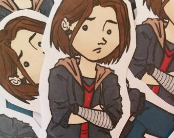 Bucky Barnes - Winter Soldier fanart sticker