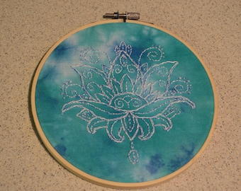 Lotus Mandala Hand Embroidered/Tie-Dyed