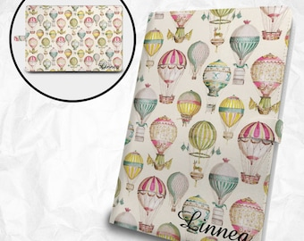 Flying balloons iPad, iPad Air, iPad Pro case with personalized monogram