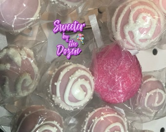 Pink & White Baby Shower Cake Pops!