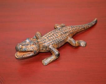 Cast Iron Alligator Figurine