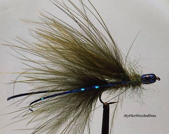 FIVE Cat's Whisker bombs, fly fishing , trout fishing, grayling fishing, mini-fry, lure fly, Trout fly, sport fishing, stillwater fly
