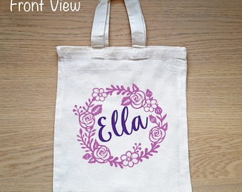 Flower girl tote bag/Thank you gift/Will you be my flower girl/personalized message