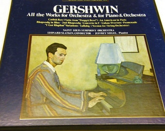 Gershwin - All works for Orchestra and for Piano plus Orchestra Box Set (1974)