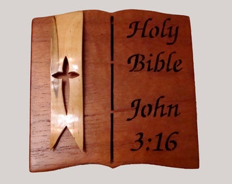 Handmade  Bible Verse Keepsake Box
