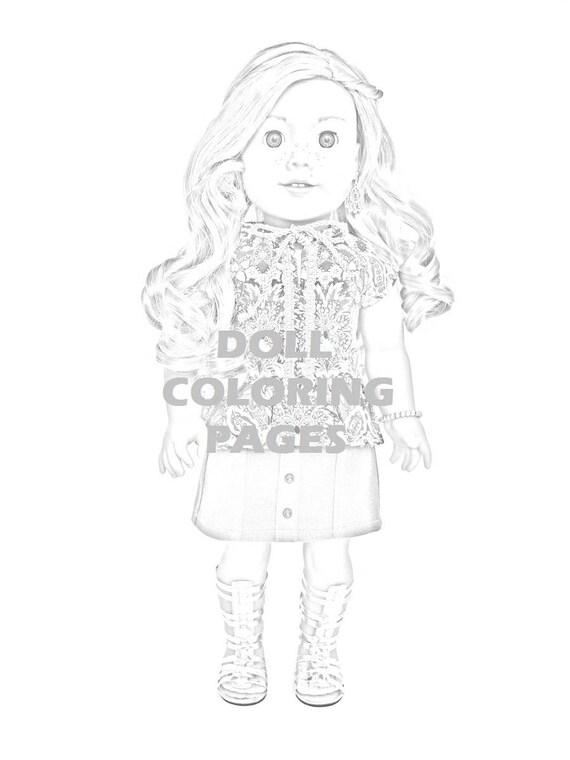 Amerikanische Mädchen Puppe Färbung Seiten Tenney gewähren