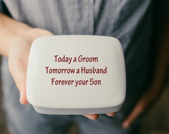 Mother of the Groom Gift from Son | Keepsake | Mother of the Groom | Wedding gift from son | Handmade Ceramic from my Charleston, SC studio