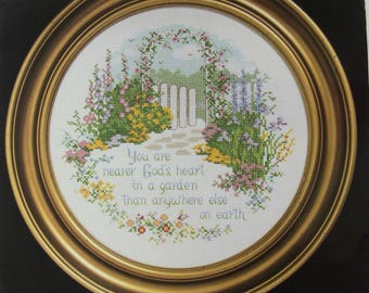 cross stitch Kit counted janlynn: garden path