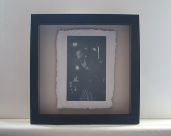 Digital photograph on fine bone china with a paper looking texture - ''Familiar''