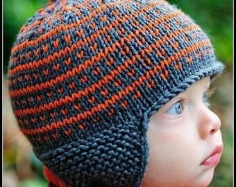 make your own Simply Fair Isle Cap (DIGITAL KNITTING PATTERN) newborn baby toddler child