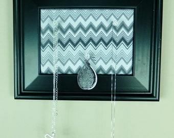 Black Framed Corkboard/Jewelry Organizer