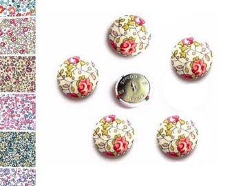 Buttons fabric flowers liberty Eloise